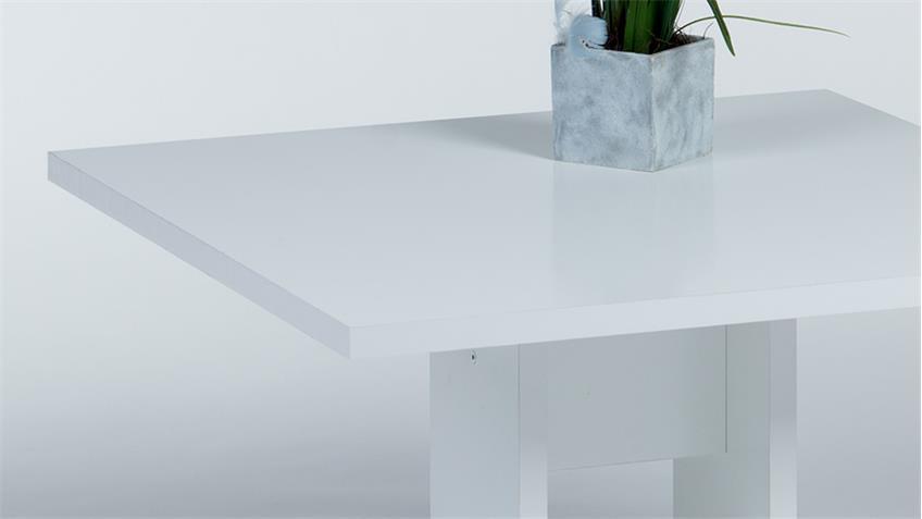 Couchtisch DREY in weiß Seidenglanz 75x75 cm