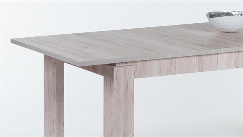 Esstisch JOEL in Sandeiche ausziehbar 160-200x90 cm