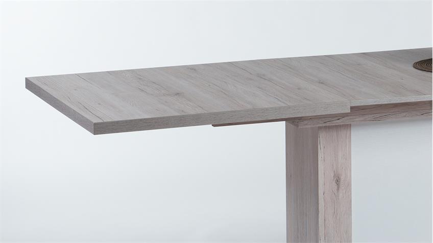 Esstisch NADINE in Sandeiche weiß ausziehbar 160-230x90 cm
