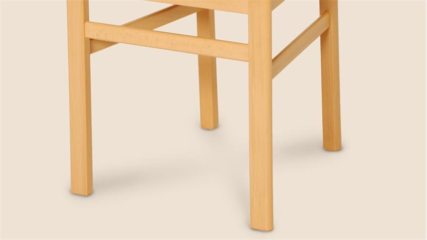 Stuhl LUPUS 2er-Set Stoff terracotta Buche massiv lackiert