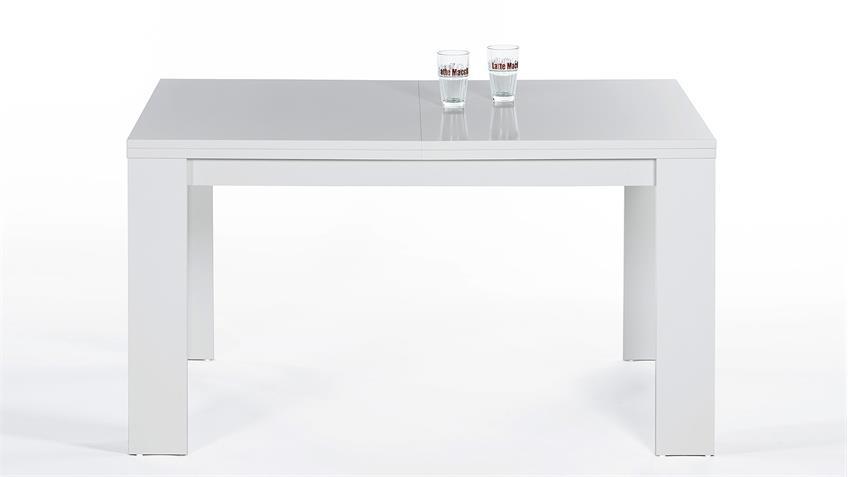 Esstisch FOXY in weiß ausziehbar 140-200x80 cm