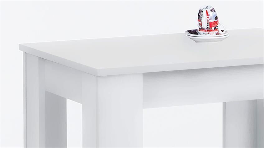 Esstisch PATRICK Küchentisch in weiß 90x67 cm