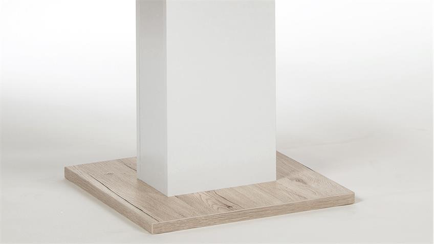 Esstisch JULIE in Sandeiche weiß ausziehbar 140-220x90 cm