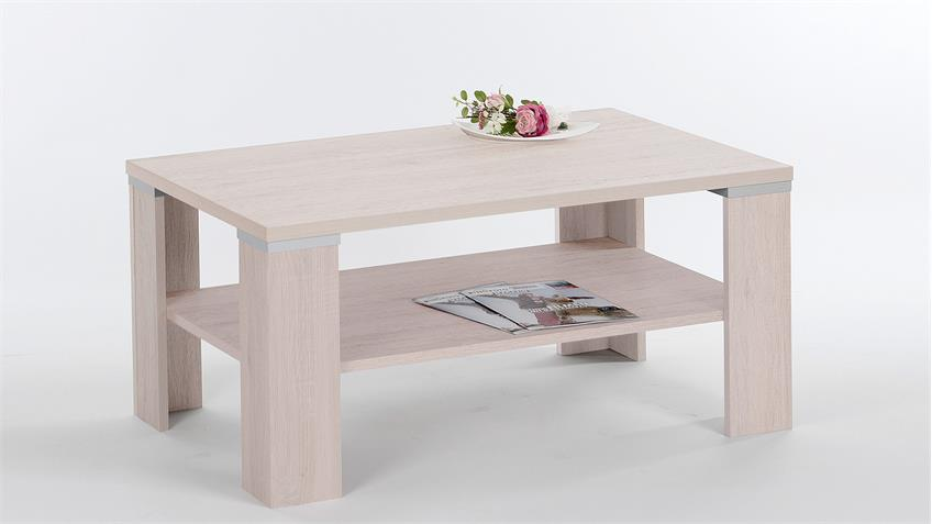 Couchtisch TOKIO Tisch in Sandeiche Aluoptik 100x60 cm