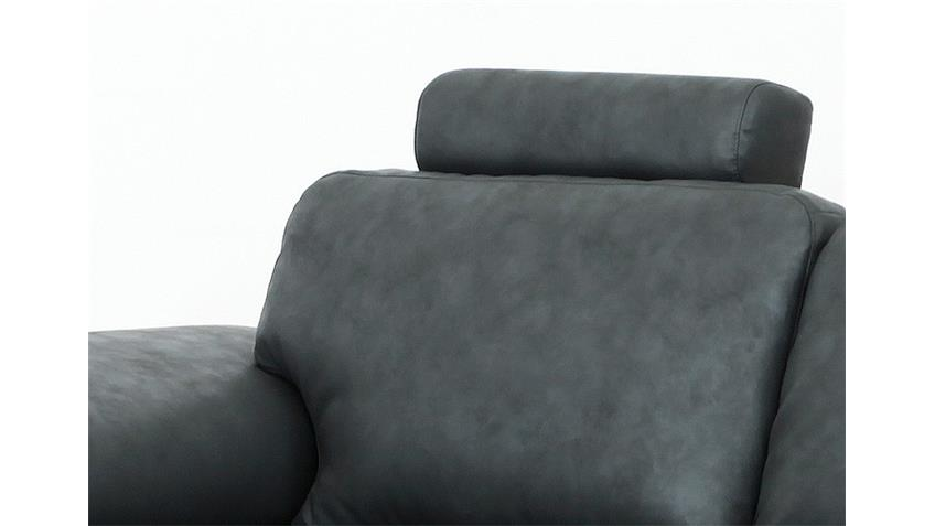 Sofa NELE Polstermöbel Bigsofa Lederlook anthrazit 3 Sitzer