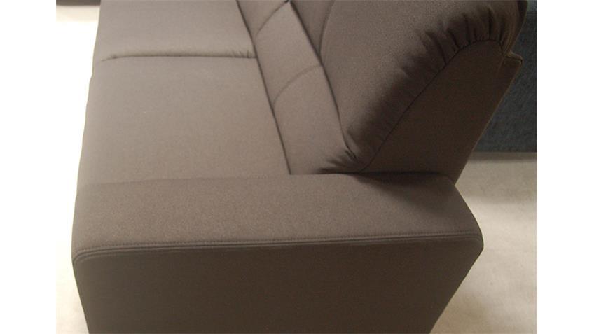 Sofa MyVario Stoff braun Kopfstützen und Polsterung 3 Sitzer