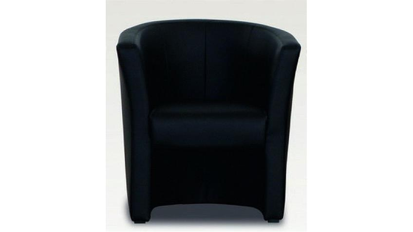 Sessel MINI Cocktailsessel Einzelsessel in schwarz 75/83/67