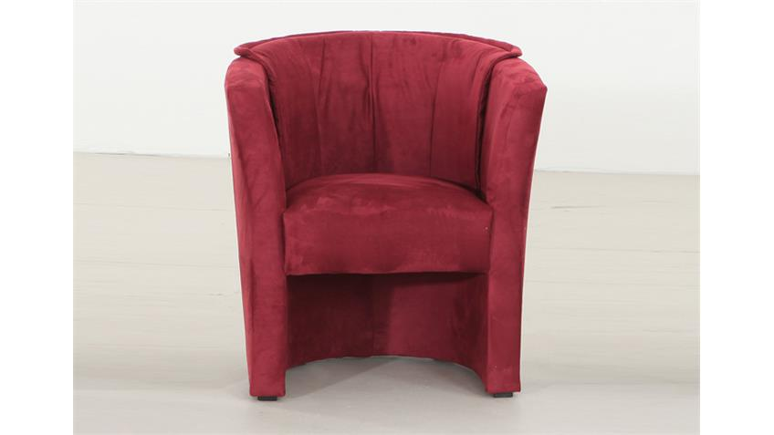 Sessel LUX Cocktailsessel Einzelsessel in rot 75/83/67