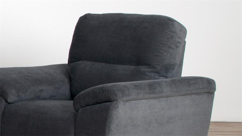 Sessel SORAN Einzelsessel in dunkelgrau 108 cm