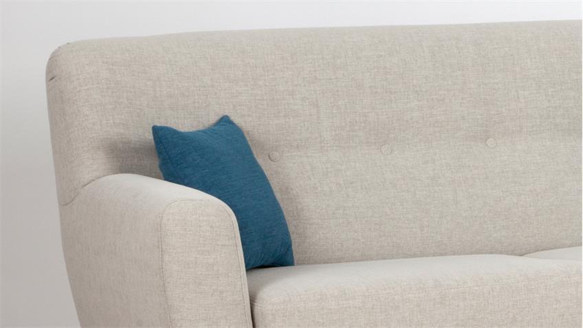 sofa lily 3 sitzer bezug stoff beige inkl nosagfederung und 2 kissen. Black Bedroom Furniture Sets. Home Design Ideas