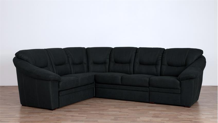 ecksofa talos l form bezug anthrazit mit federkern auf. Black Bedroom Furniture Sets. Home Design Ideas