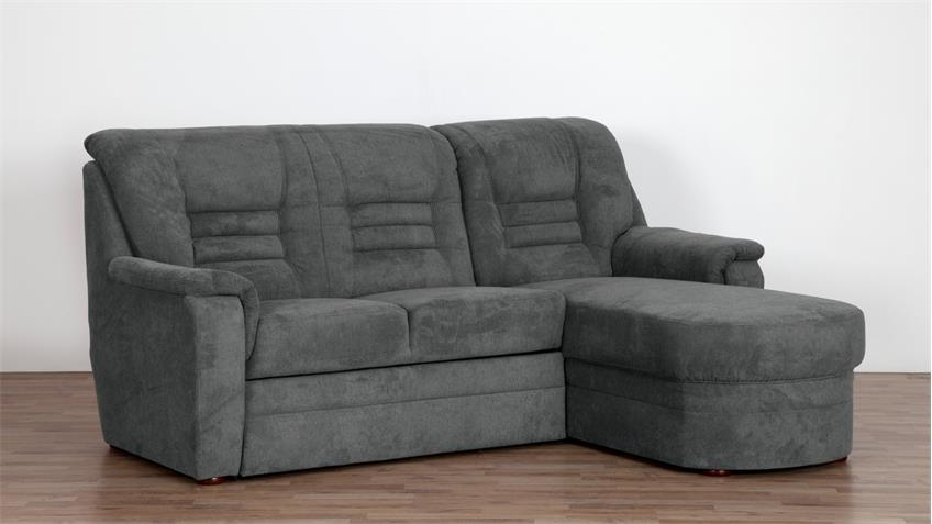 ecksofa merlin l form bezug stoff grau mit federkern auf nosagfederung. Black Bedroom Furniture Sets. Home Design Ideas