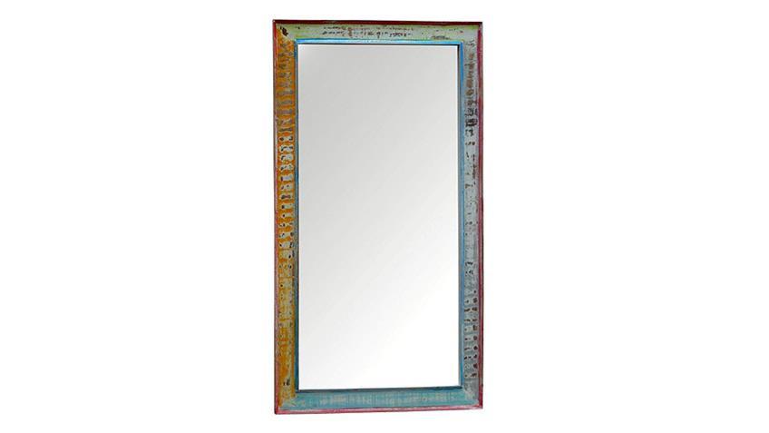Spiegel CRAYON Massivholz antikweiß gewischt Pastell