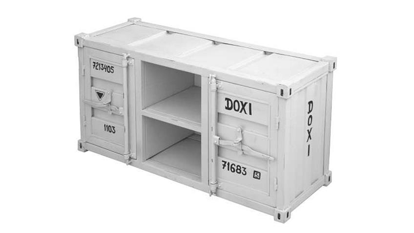 Kommode 1 CONTAINER Sideboard in Metall weiß