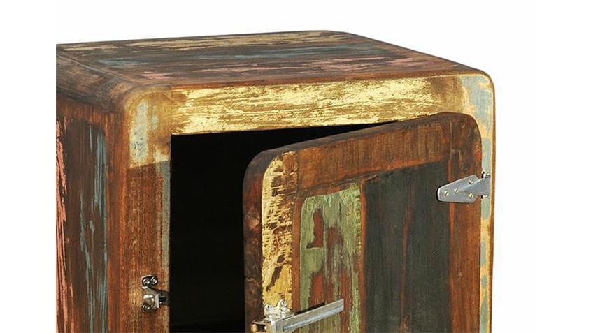 Kommode FIFTY STYLE recyceltes Massivholz mehrfarbig
