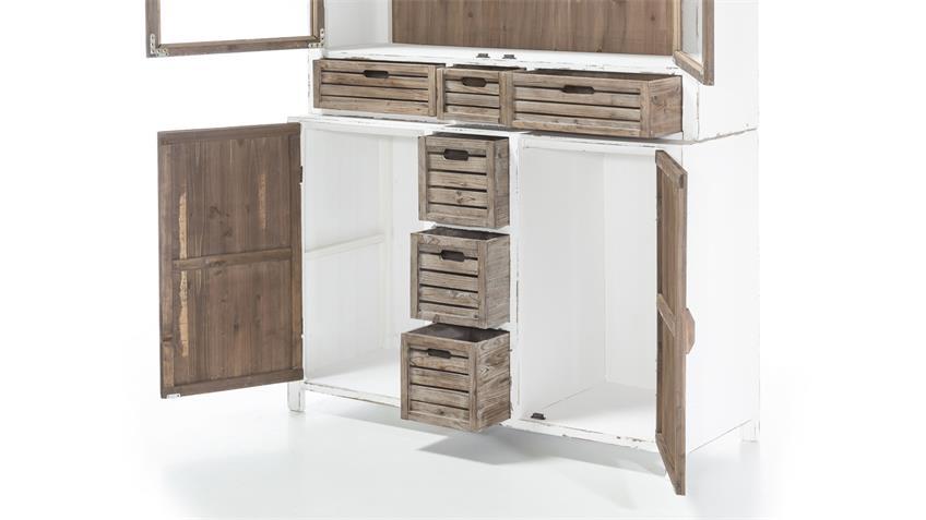 k chenschrank buffet aimann in antik wei shabby chic. Black Bedroom Furniture Sets. Home Design Ideas