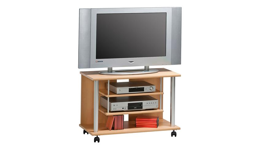 TV-Rack Maja 1898 TV-Board in Buche mit Rollen