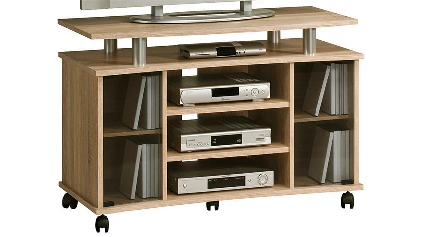 TV-Rack Maja 7362 TV-Board in Sonoma Eiche mit Rauchglas