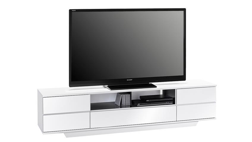 Lowboard Maja 7711 TV-Board weiß Hochglanz Push-to-open