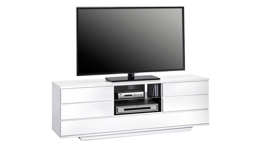 Lowboard Maja 7708 TV-Board weiß schwarz Hochglanz
