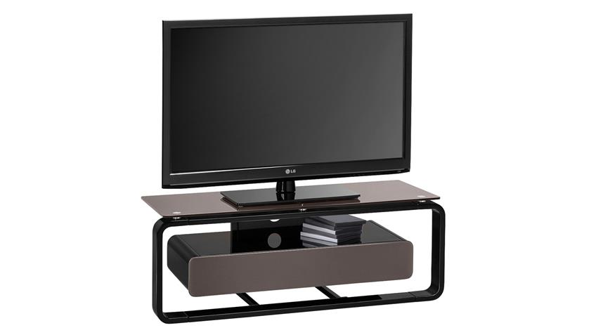 tv board maja 1257 schwarz hochglanz lackiert glas lava. Black Bedroom Furniture Sets. Home Design Ideas