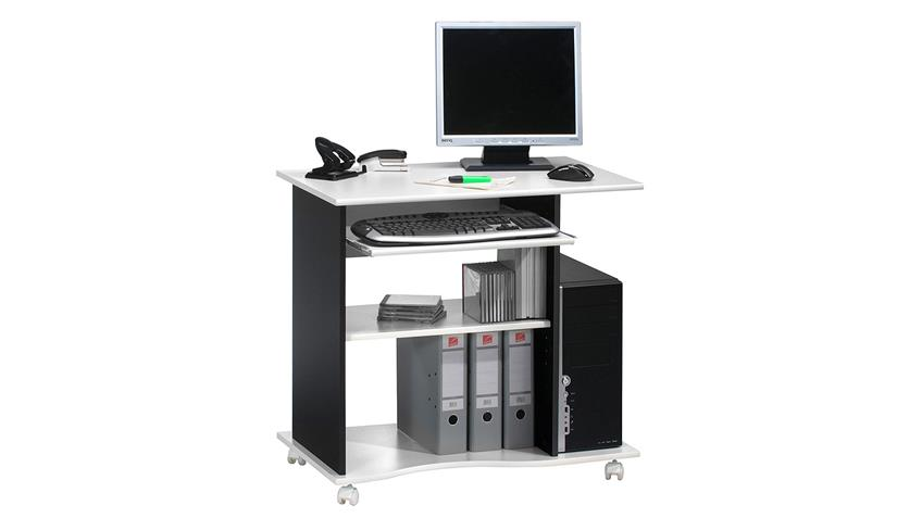 Computertisch Maja 4024 Schreibtisch in weiß und schwarz