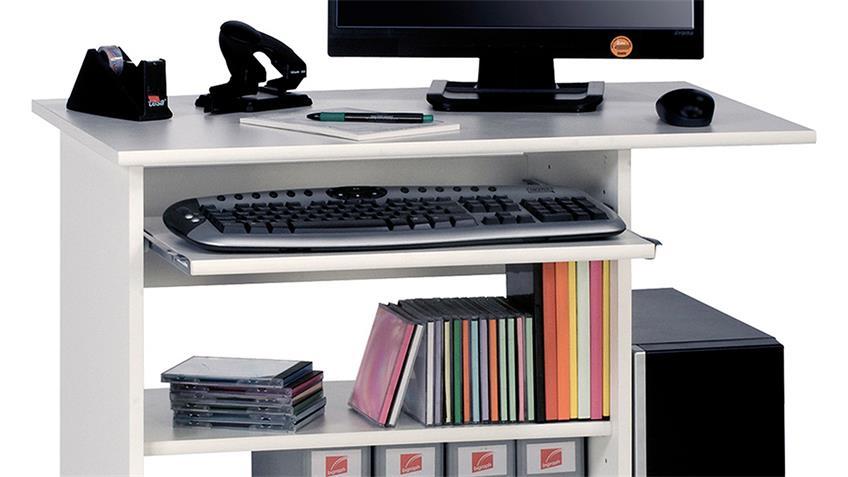 Computertisch Maja 4024 Schreibtisch in weiß