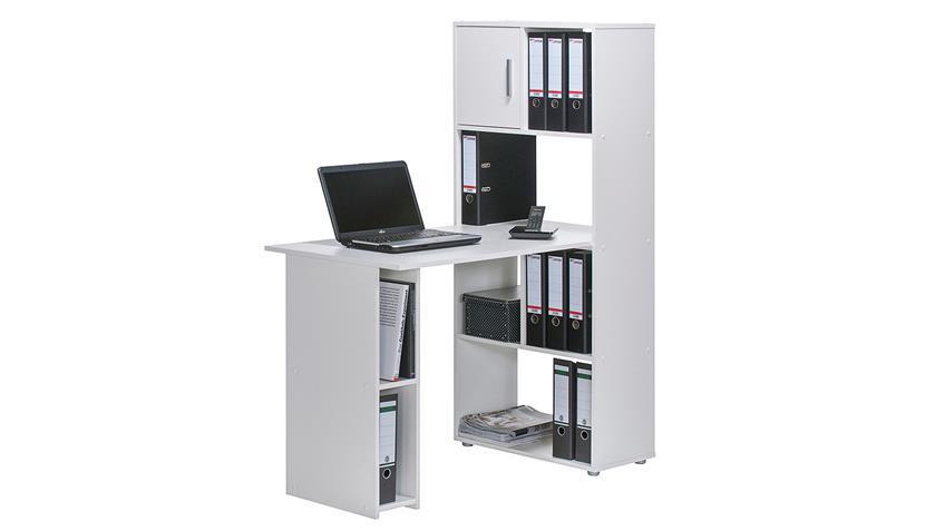 Regal Maja 4012 mit PC-Arbeitsplatz in weiß