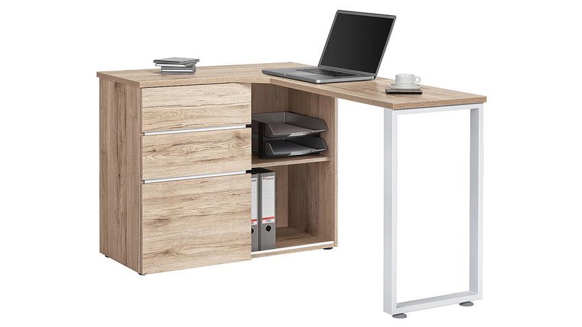 Computertisch Maja 4057 Schreibtisch in Wildeiche weiß