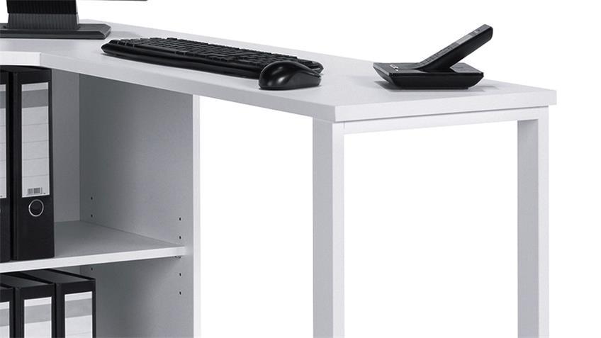 Computertisch Maja 4057 Schreibtisch in weiß