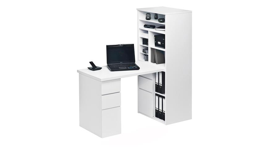 mini office maja 9562 schreibtischkombi in wei hochglanz. Black Bedroom Furniture Sets. Home Design Ideas