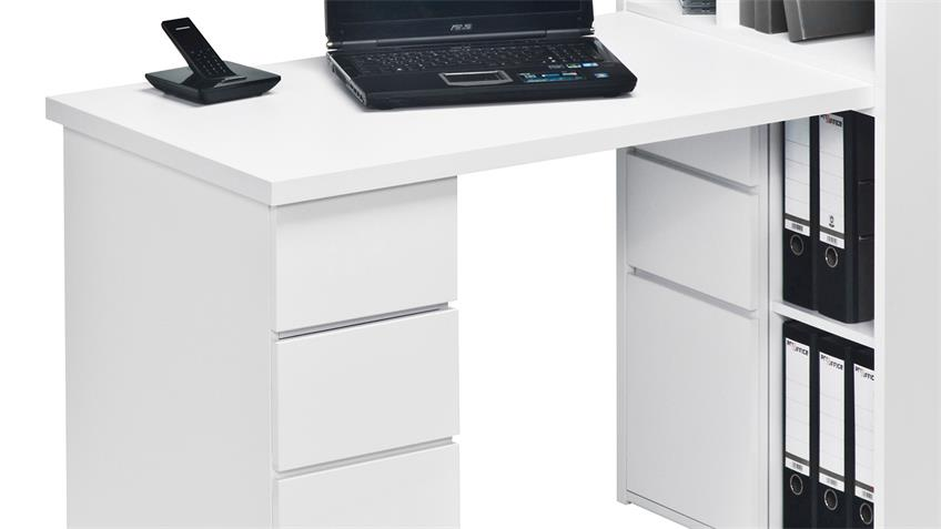 Mini Office Maja 9562 Schreibtischkombi in weiß Hochglanz