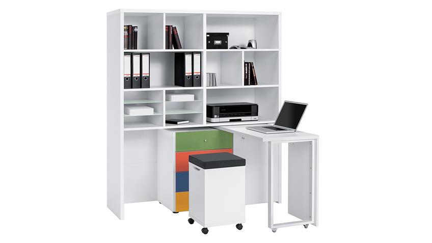 Mini Office Maja 9567 Schreibtischkombi in weiß Color