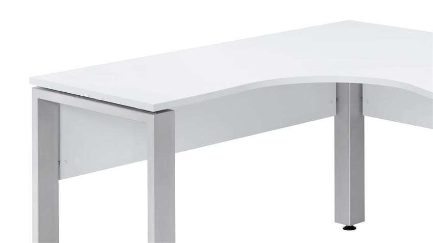 Winkelschreibtisch MAJA SYSTEM 1713 in weiß 140x160 cm