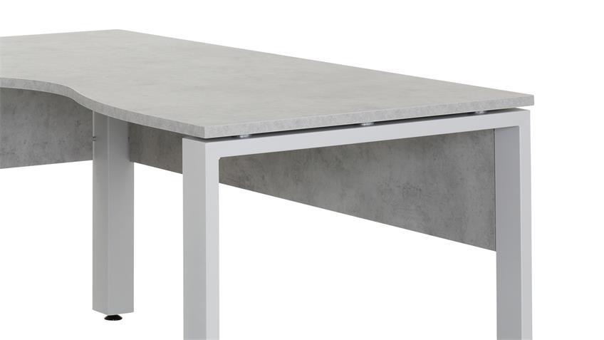 Winkelschreibtisch MAJA SYSTEM 1713 steingrau 140x160 cm