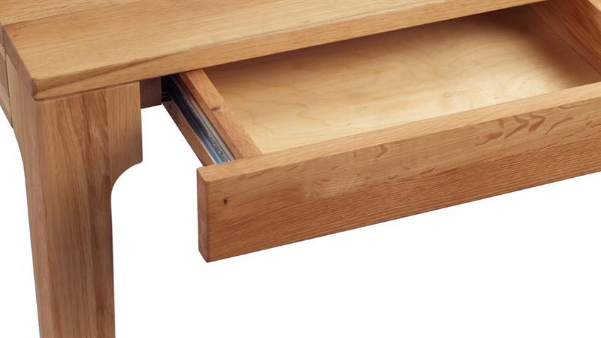 Schreibtisch KONA Wildeiche massiv geölt 110x55 cm
