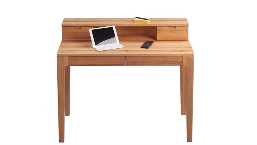 Sekretär Oskar Schreibtisch aus massiver Kernbuche 110x55