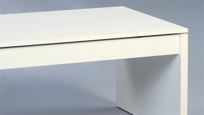 Couchtisch TREND weiß glanz mit Staufach 102x50 cm