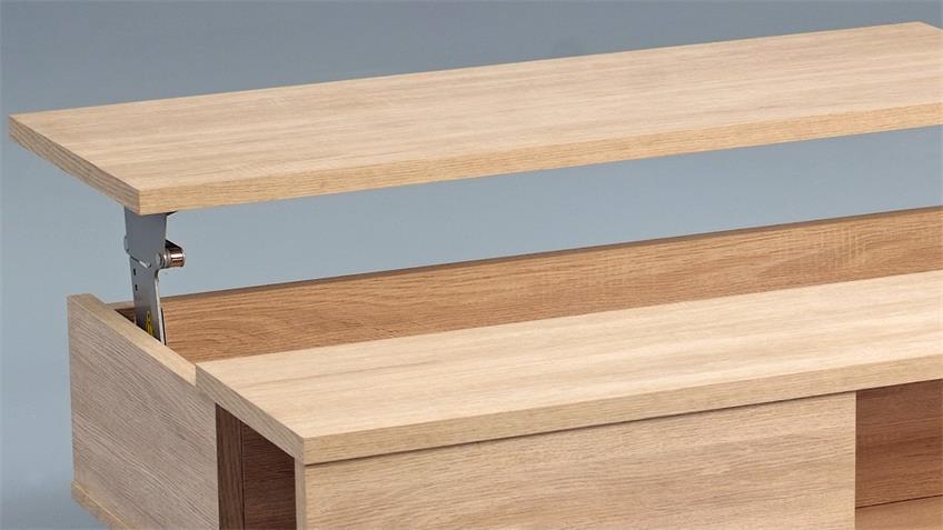 Couchtisch CHARLY 2 Sonoma Eiche Platte verstellbar 110x68