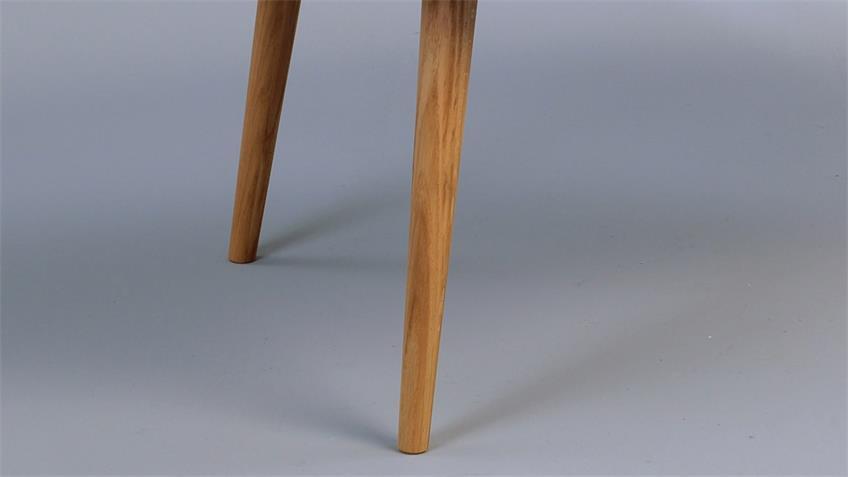 Couchtisch LUCA weiß lackiert Nierenform Beine Wildeiche