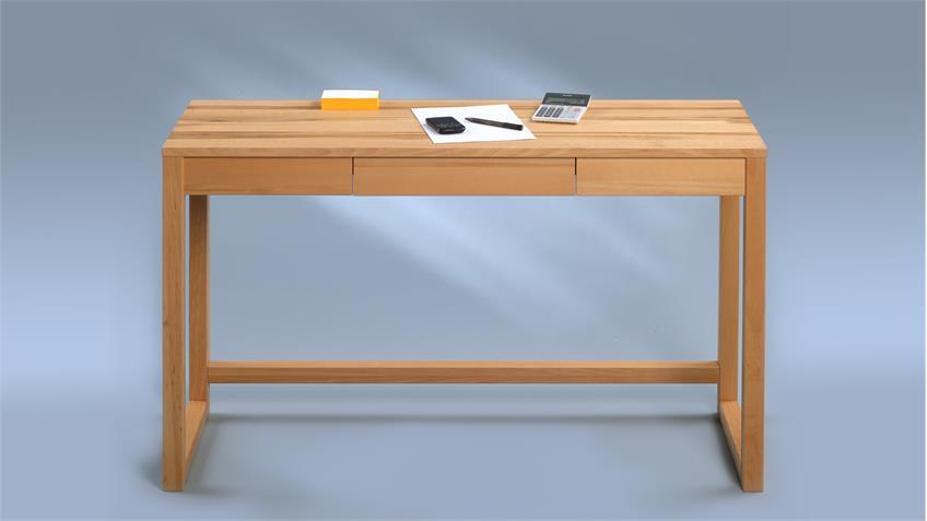 Schreibtisch LENZ Konsolentisch Kernbuche massiv 120x42 cm