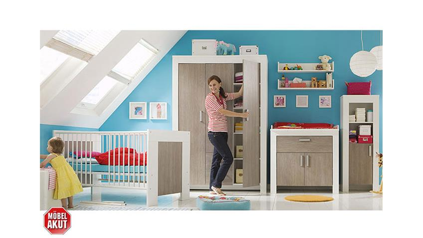 Wandregal MICHI in weiß Dekor Wandboard Babyzimmer