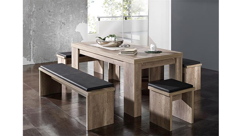 Tischgruppe BIG ZIP Wildeiche Trüffel 160 - 260 cm