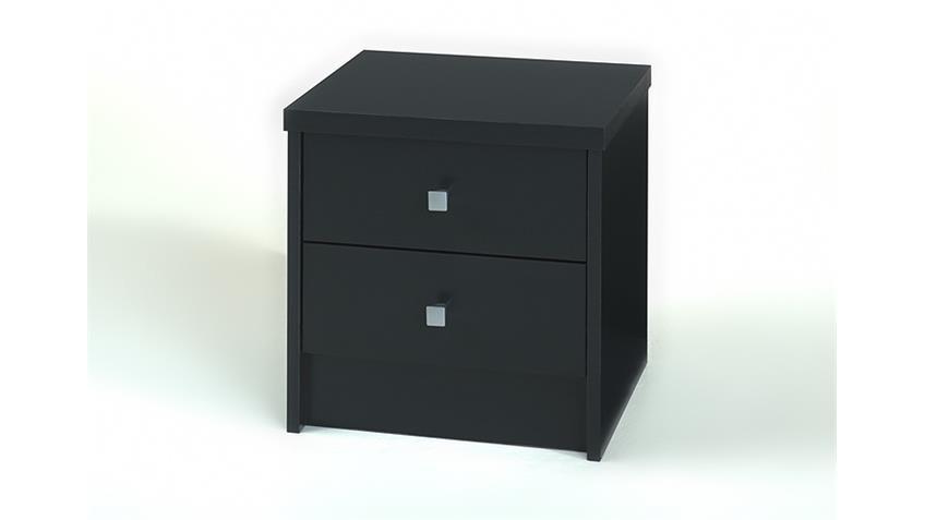 Nachtkommode One Nachttisch in schwarz matt Design