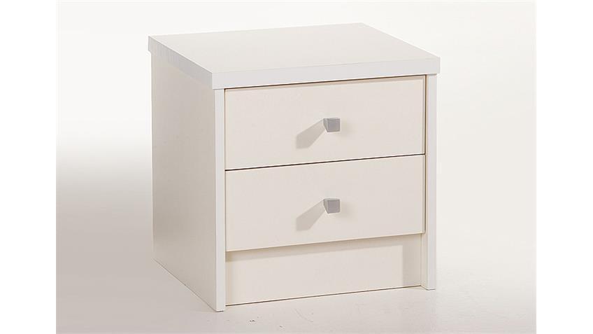 Nachtkommode ONE Nachttisch Nachtkonsole in weiß