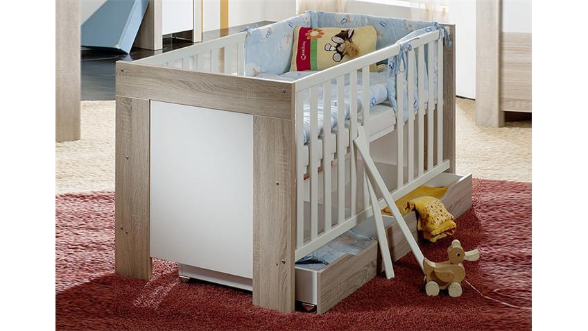 Babyzimmer BEN Sonoma Eiche sägerau und weiß matt