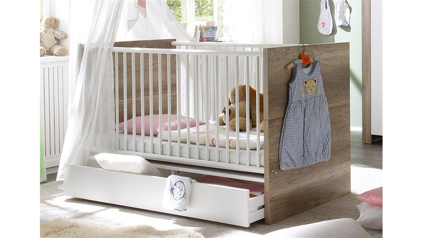 Babyzimmer NICK Wildeiche Trüffel und Weiß matt