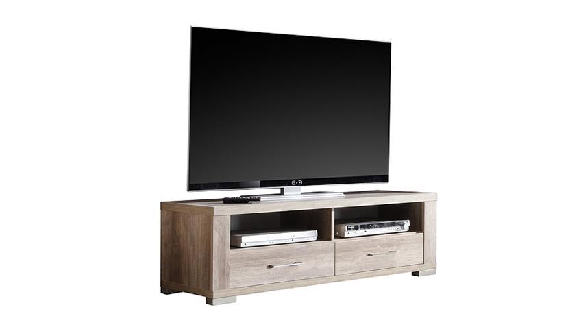 Lowboard MATTI TV Unterteil in Wildeiche Trüffel Dekor
