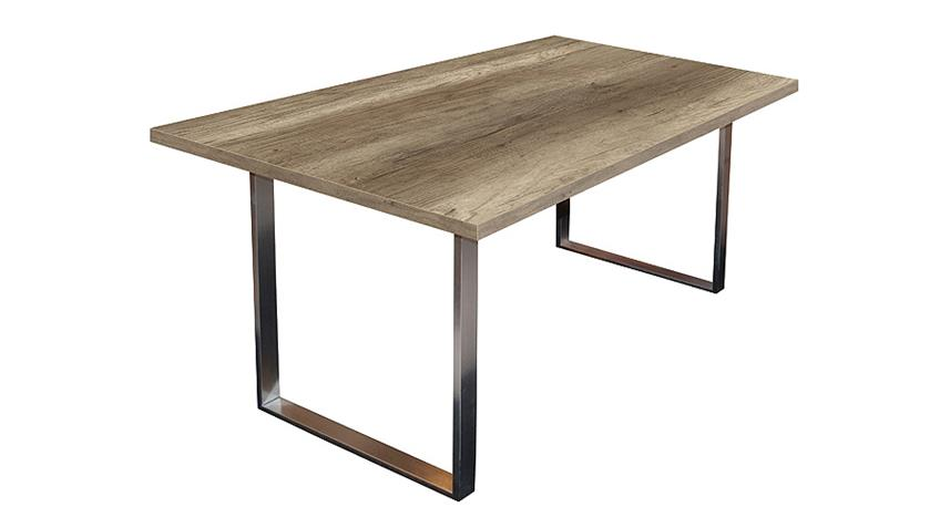 Esstisch STEEL Tisch in Wildeiche Trüffel 200x100 cm