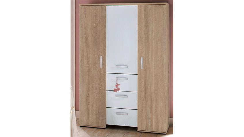 Babyzimmer-Set MICHI Sonoma Eiche sägerau und Weiß matt